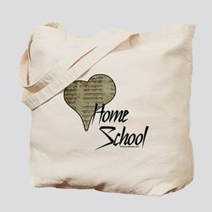 """I Love HomeSchool (with Hebrew Heart)"" Tote Bag"