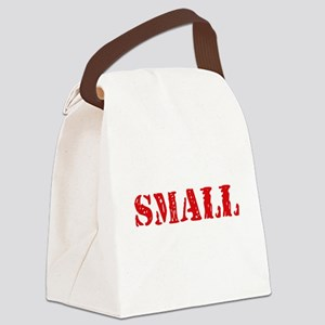 Small Retro Stencil Design Canvas Lunch Bag