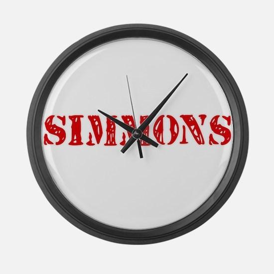 Simmons Retro Stencil Design Large Wall Clock