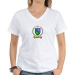 GUYON Family Crest Women's V-Neck T-Shirt