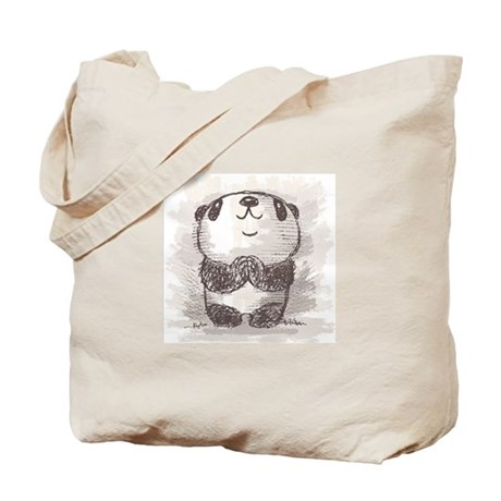 Praying Panda Tote Bag