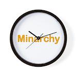 Minarchy Wall Clock