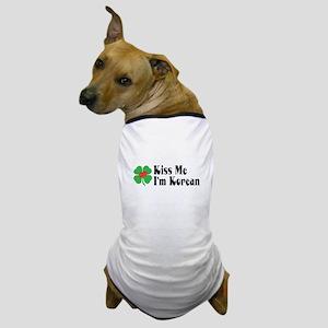 Kiss Me I'm Korean Dog T-Shirt