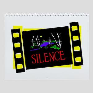 Silent Movie Slides Wall Calendar