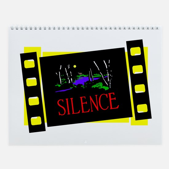Silent Movie Slides Wall Calendar