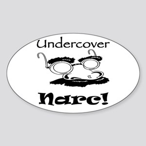 Undercover Narc Oval Sticker