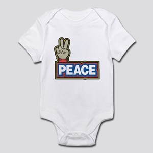 Peace Sign (Blue and Red) Infant Bodysuit