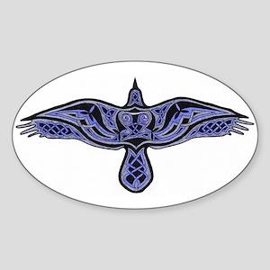 Celtic Raven Sticker (oval)