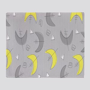 Boomerangs! Grey and Yellow Throw Blanket