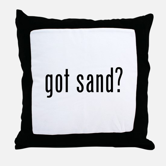 Cute Sand Throw Pillow