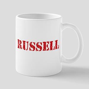 Russell Retro Stencil Design Mugs