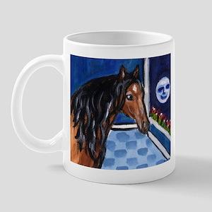 Lusitano Horse sees moon Mug