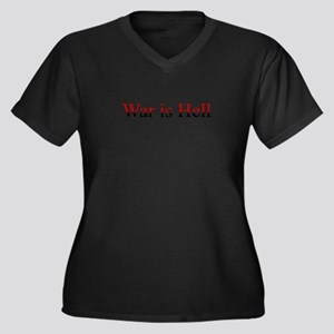 War is Hell Women's Plus Size V-Neck Dark T-Shirt
