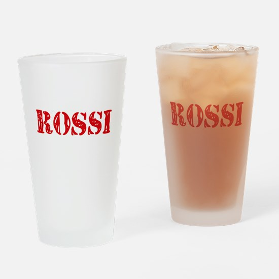 Rossi Retro Stencil Design Drinking Glass