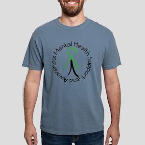 Mental Health Stick Figure White T-Shirt