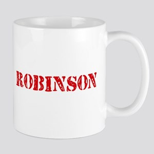 Robinson Retro Stencil Design Mugs