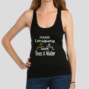 Please Uruguay Save Trees & Wat Racerback Tank Top