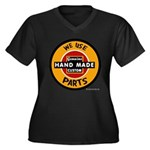 CUSTOM PARTS Women's Plus Size V-Neck Dark T-Shirt