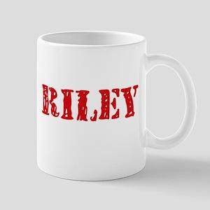 Riley Retro Stencil Design Mugs
