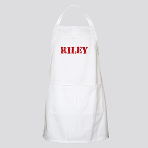 Riley Retro Stencil Design Light Apron