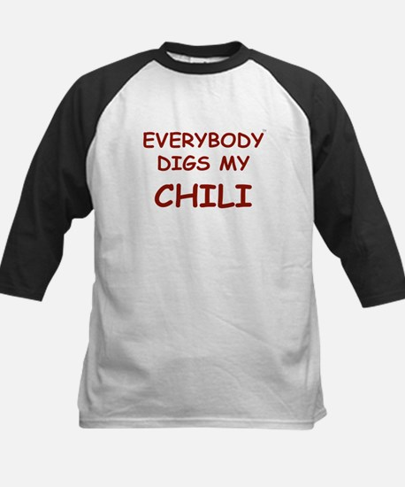Everybody Digs My CHILI Kids Baseball Jersey