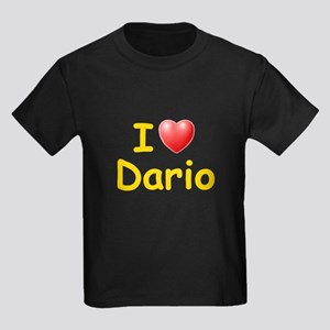 I Love Dario (L) Kids Dark T-Shirt