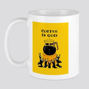 Coffee Is God Mug