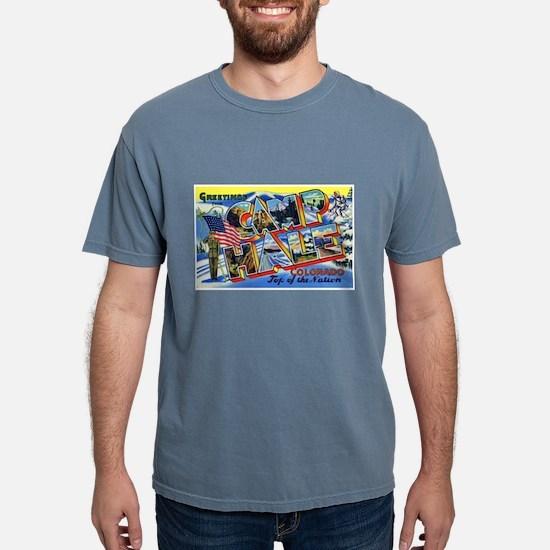 Camp Hale Colorado (Front) Black T-Shirt
