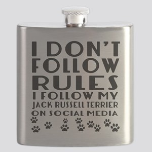 I Follow My Jack Russell Terrier Dog Flask