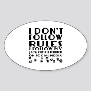 I Follow My Jack Russell Terrier Do Sticker (Oval)