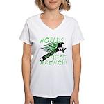 FASTEST WRENCH Women's V-Neck T-Shirt