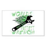 FASTEST WRENCH Rectangle Sticker