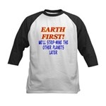 Earth First! We'll Strip-Min Kids Baseball Jersey
