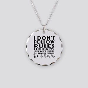 I Follow My Irish Water Span Necklace Circle Charm