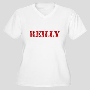 Reilly Retro Stencil Design Plus Size T-Shirt