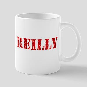 Reilly Retro Stencil Design Mugs