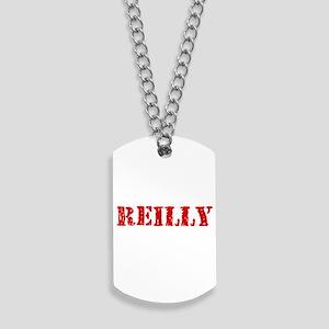 Reilly Retro Stencil Design Dog Tags