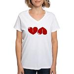 Heart Ass Women's V-Neck T-Shirt