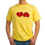 Heart Ass Yellow T-Shirt