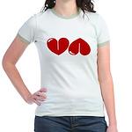 Heart Ass Jr. Ringer T-Shirt