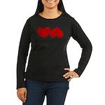Heart Ass Women's Long Sleeve Dark T-Shirt