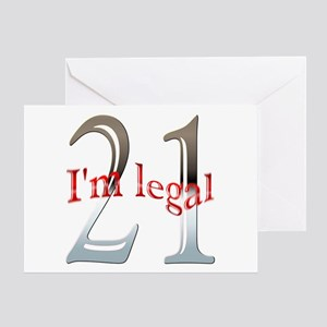 Funny 21st Birthday Greeting Cards