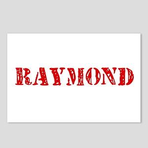 Raymond Retro Stencil Des Postcards (Package of 8)