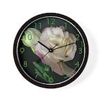 White Lysanthia Wall Clock