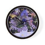 Iris Bouquet Photo Drawing - Wall Clock