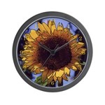 Sunflower #3 - Photo Drawing - Wall Clock