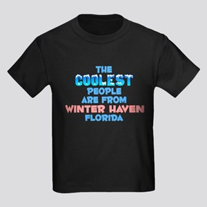 Coolest: Winter Haven, FL Kids Dark T-Shirt