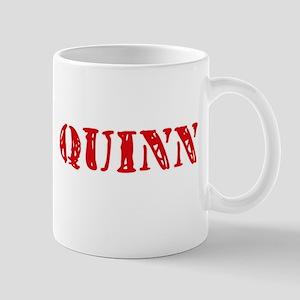Quinn Retro Stencil Design Mugs