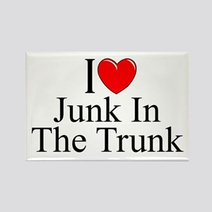 """I Love (Heart) Junk In The Trunk"" Rectangle Magne"