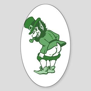 Leprechaun Oval Sticker